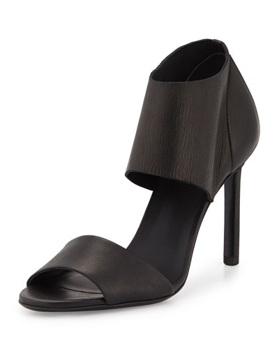 Stephanie Peep-Toe Sandal, Black