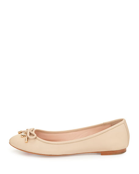 willa classic leather Ballet Flats, powder