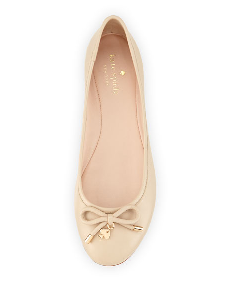 willa classic leather Ballet Flat, powder