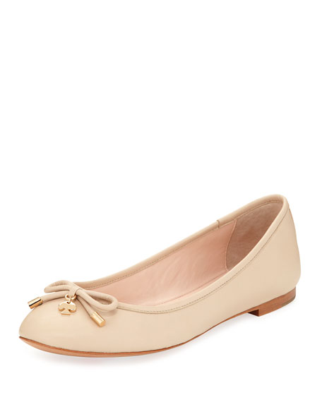 willa classic leather ballerina flat, powder