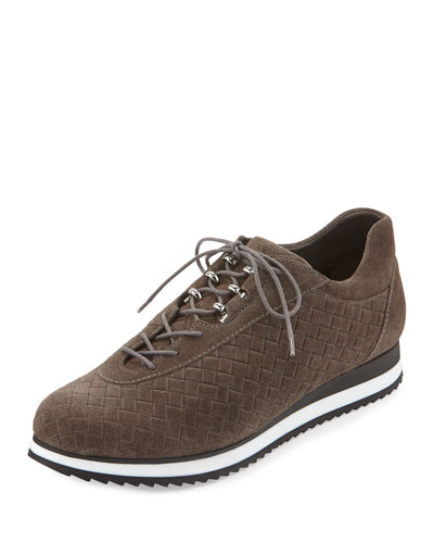 Relay Quilted Suede Sneaker, Lead