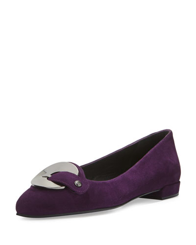 Saucersonic Suede Ornament Flat, Hyacinth