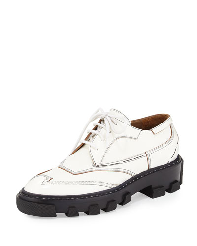 Derby Lace-Up Oxford, White