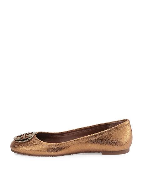Reva Metallic Leather Ballet Flat, Copper