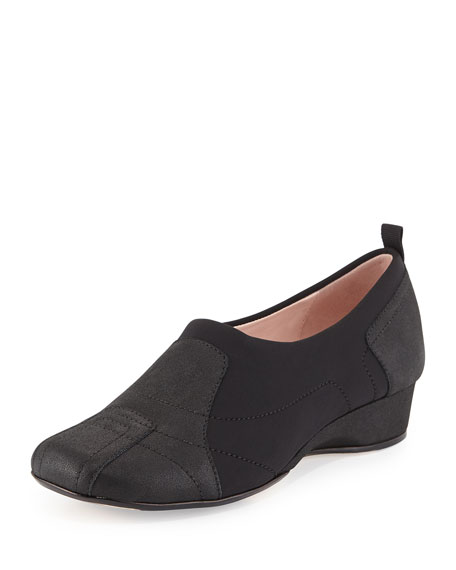Taryn Rose Kuss Demi-Wedge Slip-On Sneaker, Black