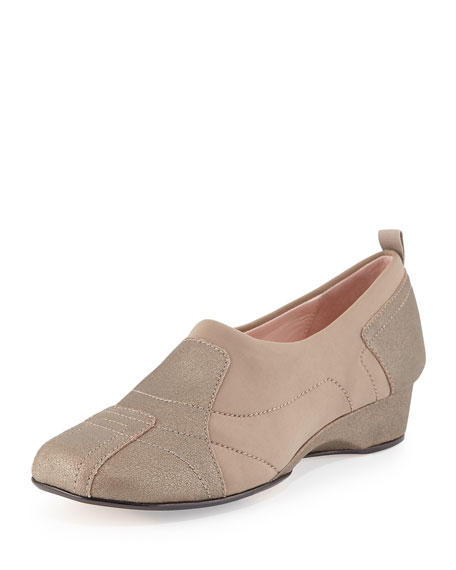 Taryn Rose Kuss Demi-Wedge Slip-On Sneaker, Quartz