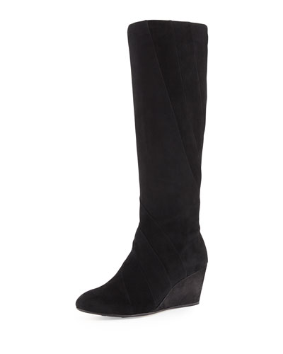 e4ef4add2cb3 Taryn Rose Kalo Suede Wedge Knee Boot