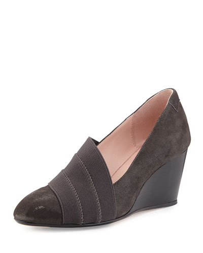 Kraige Iridescent Suede Slip-On, Gray