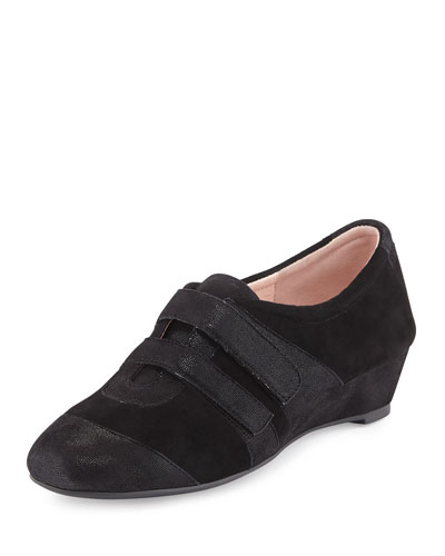 Pople Sport Demi-Wedge Sneaker, Black