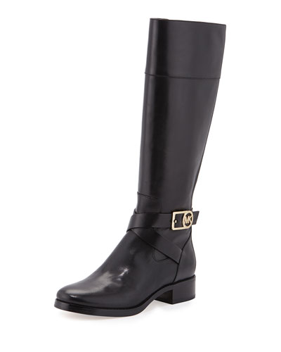 Bryce Leather Riding Boot, Black
