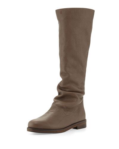Cervo Zip-Back Knee Boot, Smog