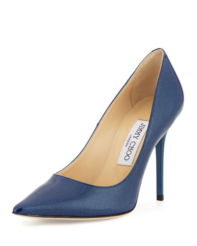 Abel Coated Glitter Pump, Blue