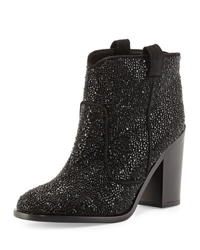 Pete Strass Suede Ankle Boot, Black