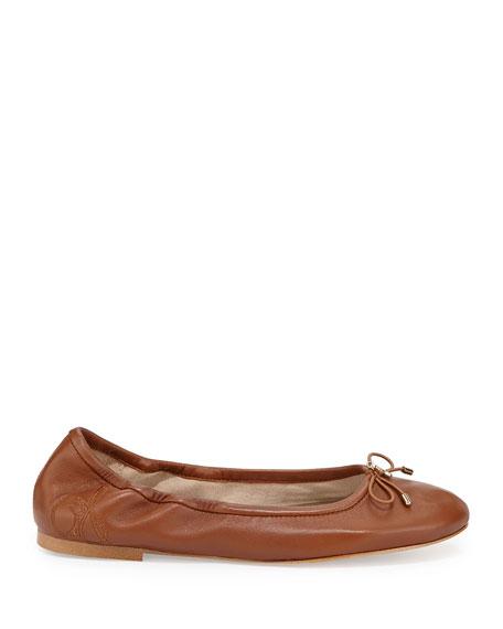 Felicia Classic Ballerina Flat, Saddle