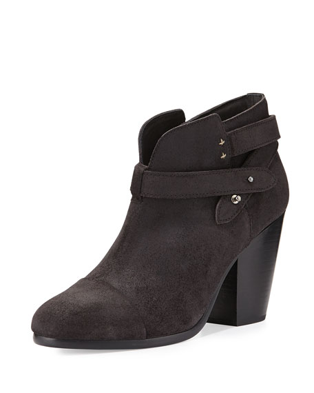 Rag & Bone Harrow Suede Ankle Boot, Asphalt