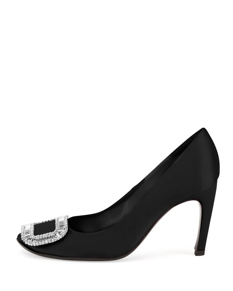 Image 2 of 2: Belle de Nuit Satin Pump, Black