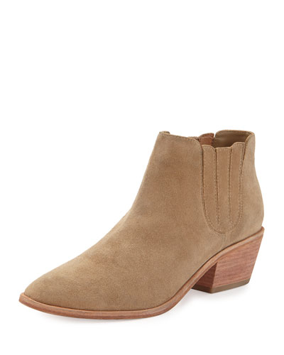 Barlow Suede Ankle Bootie, Cement