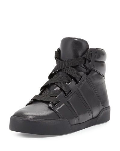 Morgan High-Top Sneaker, Black