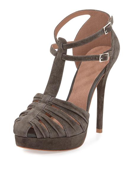 Rexanna Suede Platform Sandal, Cinder