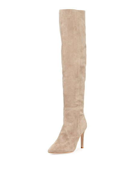 Joie Olivia Over-the-Knee Suede Boot, Mousse Tan