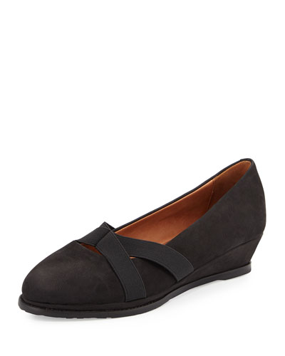 Newman Demi-Wedge Slip-On, Black