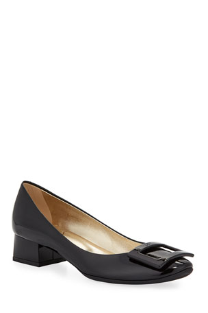 Roger Vivier Belle de Nuit Rubber-Sole Pumps, Black