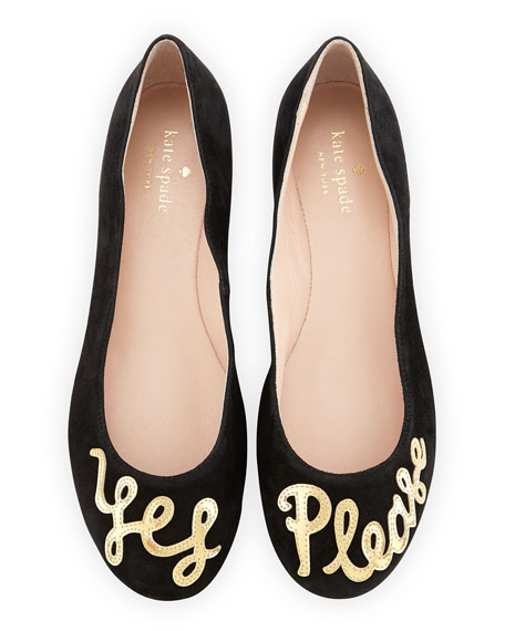 Kate Spade New York Metallic Cap-Toe Flats
