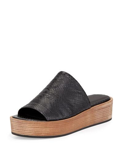 Saskia Platform Wedge Sandal, Black