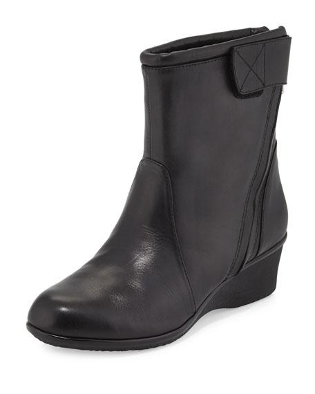 Taryn Rose Alfie Waterproof Wedge Bootie, Black