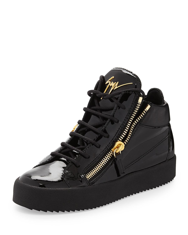 34fdd1e210b11 Giuseppe Zanotti Mirrored Low-Top Zip Sneaker