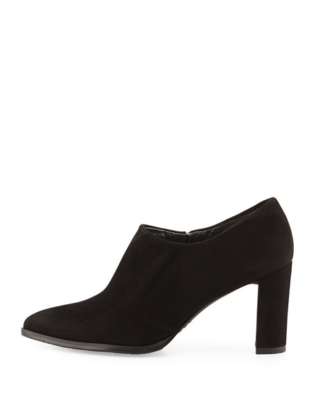 Standdap Suede Ankle Bootie, Black