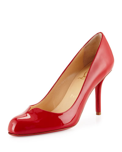 Sophiaregina Patent Red Sole Pump, Red