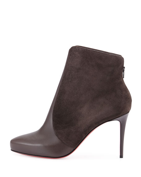 Gaetanina Paneled Red Sole Bootie, Taupe