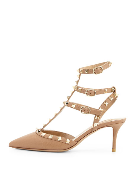 Rockstud Caged 65mm Pump, Alpaca