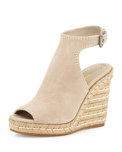 Open Toe Espadrille Wedge Open-toe Suede Espadrille