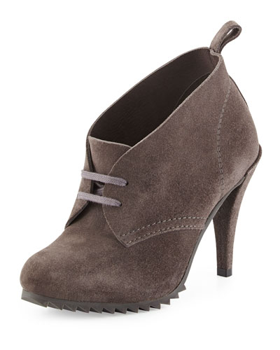 Yasu Lace-Up Suede Bootie, Fox