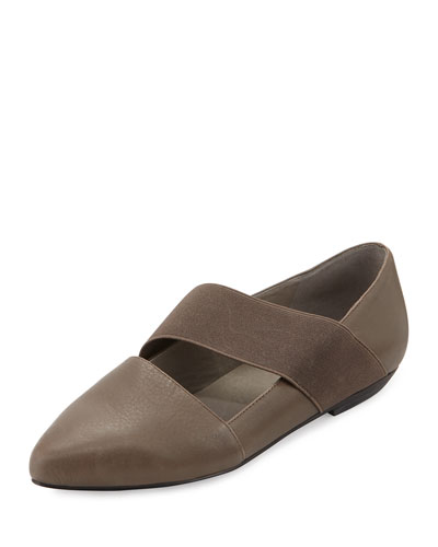 Lend Washed Leather Slip-On, Surplus Gray