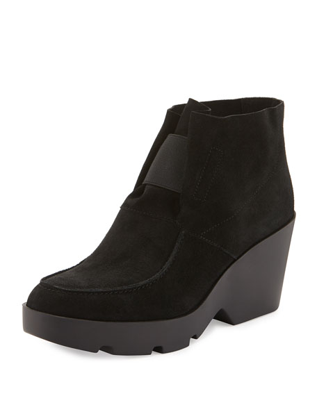 eileen fisher treat wedge desert boot black