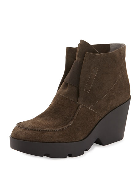 Eileen Fisher Treat Wedge Desert Boot, Surplus Gray
