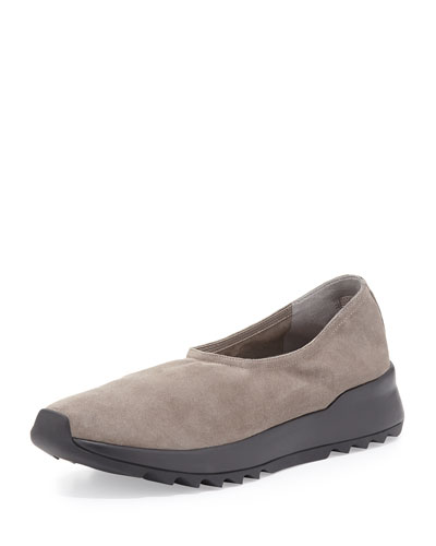 Hug2 Suede Slip-On Sneaker, Surplus Gray