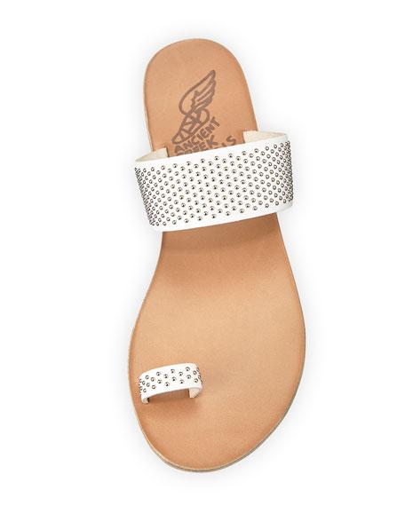 Thraki Studded Toe-Ring Sandal, White