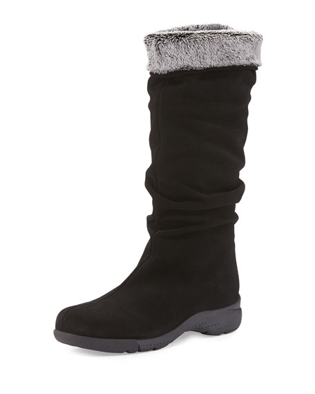 La Canadienne Trevis Slouchy Suede Weather Boot, Black
