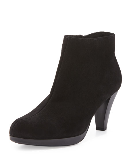 La Canadienne Megan Suede Heel Bootie, Black