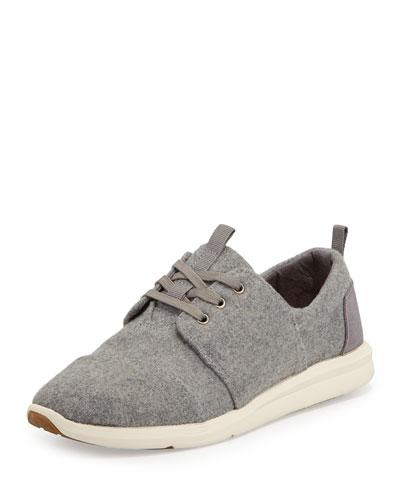 Del Rey Felt Sneaker, Gray