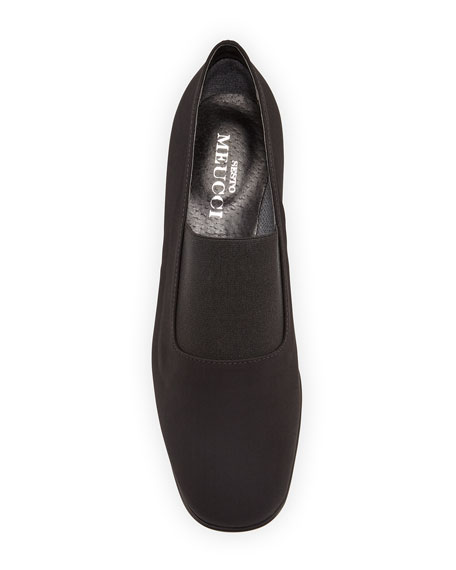 Yasemin Waterproof Stretch-Fabric Pump, Black