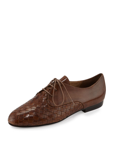 Sesto Meucci Naxos Woven Leather Oxford, Camel