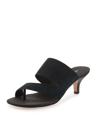 Ruge Asymmetric Slide Sandal, Navy