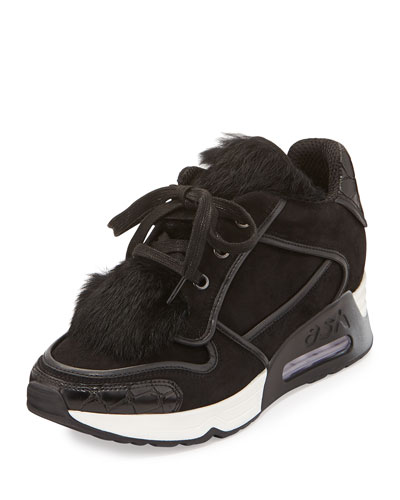 Link Rabbit-Fur Trainer, Black