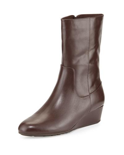 Tali GRAND O/S Short Leather Boot, Chestnut