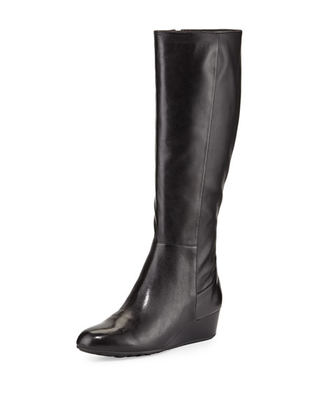 Cole Haan Tali Tall Leather Boot, Black